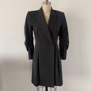 Theory Gray Blazer Jacket Dress Sz 4